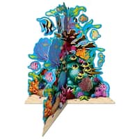 "Club Pack of 12 3-D Multi- Colored Coral Reef Party Centerpiece Decorations 10"" - Multi"
