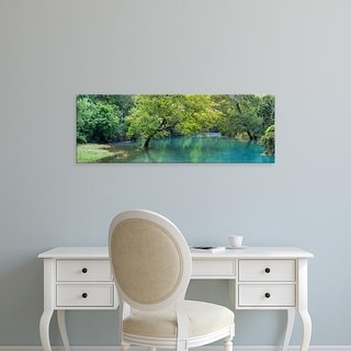 Easy Art Prints Panoramic Image 'River in forest, Ozark National Scenic Riverways, Van Buren, Missouri' Canvas Art