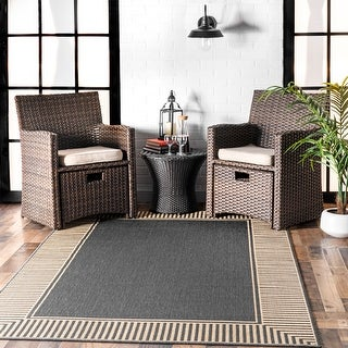Link to nuLOOM Asha Simple Border Indoor/Outdoor Area Rug Similar Items in Classic Rugs