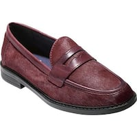 Cole Haan Women's Pinch Campus Penny Loafer Tawny Port Hair Calf Leather