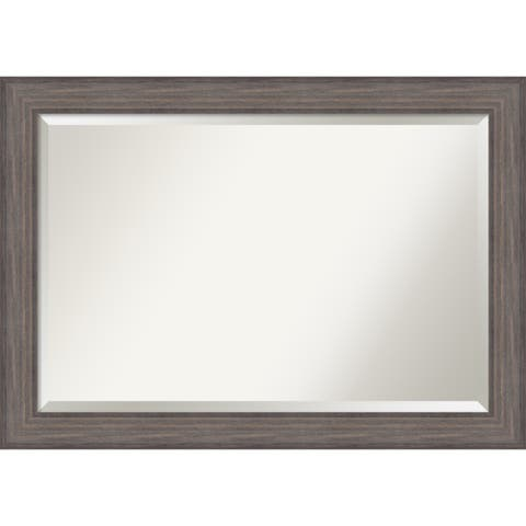 Bathroom Mirror Extra Large, Country Barnwood 42 x 30-inch - 29.25 x 41.25 x 0.741 inches deep