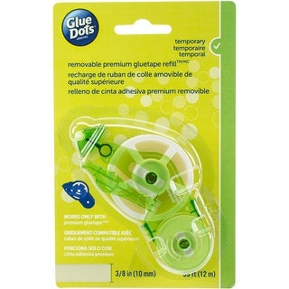 """Glue Dots Tape Refill-Removable .375""""X39' For 40901 Runner"""