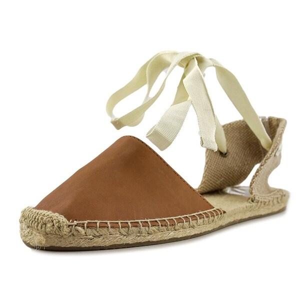 Soludos Sandal Espadrille Women Round Toe Leather Tan Espadrille