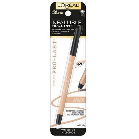 L'Oreal Infallible Pro-Last Waterproof Pencil Eyeliner, 980 Nude