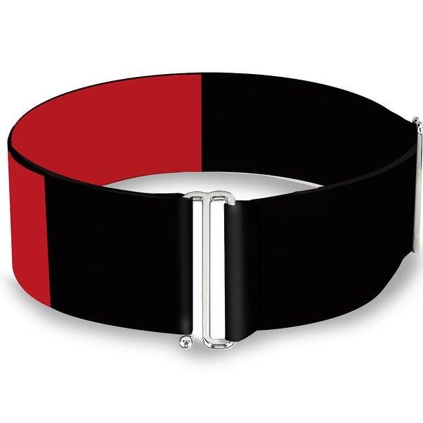 Harley Quinn Diamond Split Red Black Red Cinch Waist Belt ONE SIZE