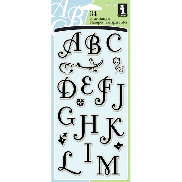 "Inkadinkado Clear Stamps 4""X8""-Coffee House Alphabet"