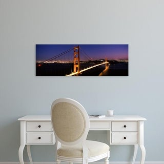 Easy Art Prints Panoramic Images's 'Suspension bridge, Golden Gate Bridge, San Francisco, California' Canvas Art