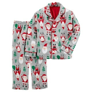 Carter's Boys 2 Piece Polyester Santa Pajama Set- 4 Kids