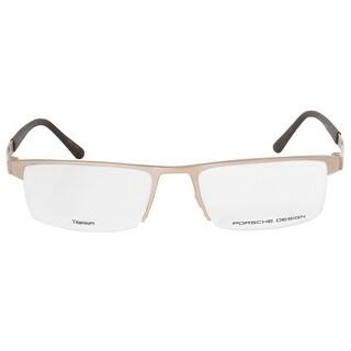 Porsche Design P8239 B Rectangular Matte Gold Eyeglass Frames