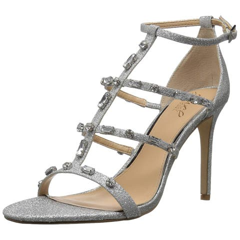BADGLEY MISCHKA Womens Adela Open Toe Special Occasion Strappy Sandals