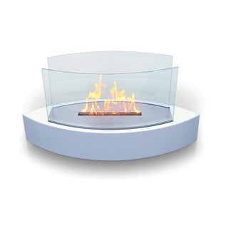 Lexington (High Gloss White) Table Top Bio Ethanol Ventless Fireplace