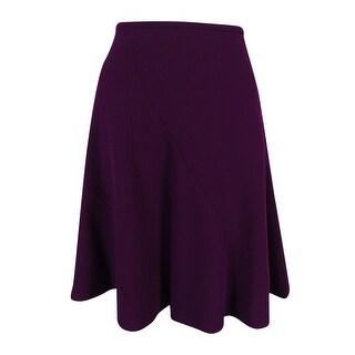 Calvin Klein Women's Solid Flared Skirt