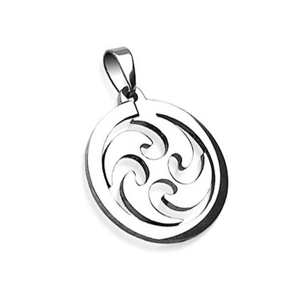 Stainless Steel Whirl Wind Pendant (30 mm Width)