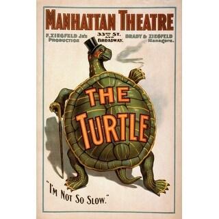Manhattan Theatre New York Broadway The Turtle Poster - Vintage Theater Advertisement (Keepsake Tin)