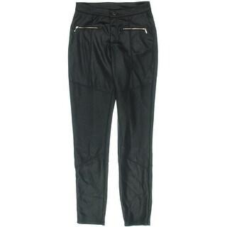 Marilyn Monroe Womens Juniors Skinny Pants Zipper Pocket Shadow Stripe