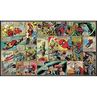 "RoomMates JL1398M 72"" x 126"" - Marvel Comic Panel - Self-Adhesive Vinyl Wall Mural - 7 Panels"