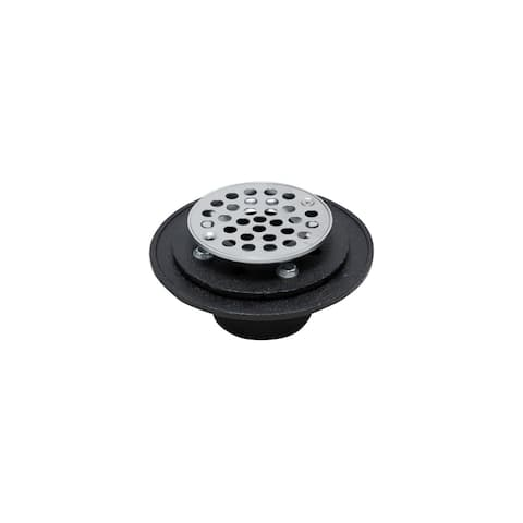 "PROFLO PF42959RD Cast Iron Round Shower Drain (2"" IC Connection) -"