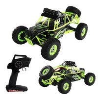Costway 1:12 2.4G 2WD RC Off-Road Racing Car Radio Remote Control Rock Crawler Truck RTR - Green