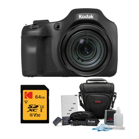 Kodak PIXPRO Astro Zoom AZ652 20MP Digital Camera w/ 64GB Card Bundle