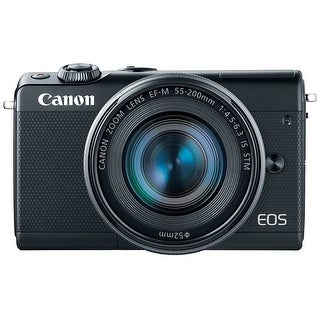 Canon EOS M100 Mirrorless Camera with EF-M 15-45mm and 55-200mm Lenses (Black)