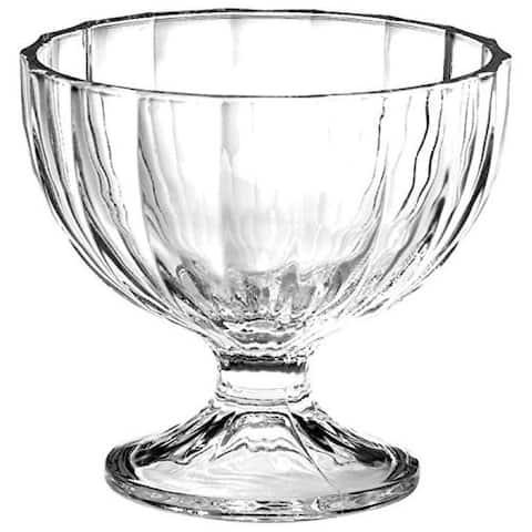 Bormioli Rocco Alaska Glass Footed Bowl For Desserts & Ice Creams 8.75 Oz, Clear - 8.75 ounces