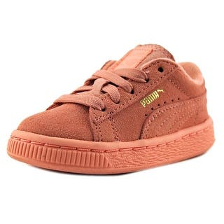 Puma Suede Kids Round Toe Suede Sneakers|https://ak1.ostkcdn.com/images/products/is/images/direct/03d27d6adcc40f47037a83b5d3d37683927c3ab4/Puma-Puma-Suede-Kids-Toddler-Round-Toe-Suede-Pink-Sneakers.jpg?impolicy=medium