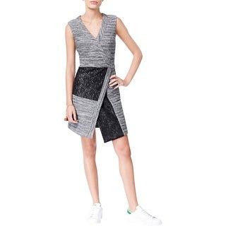 Rachel Roy Womens Casual Dress Knit Sleeveless