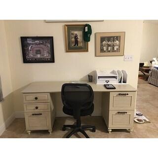 Kathy Ireland Office Volcano Dusk Double Pedestal Desk