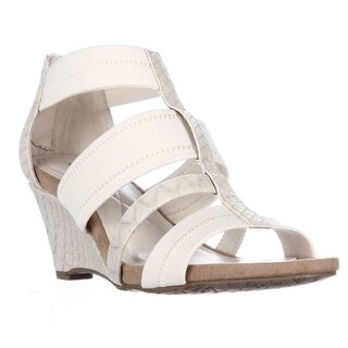A35 Mavenn Elastic Strap Wedge Sandals - Stone