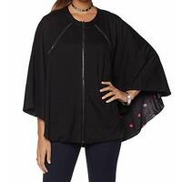 Melissa McCarthy Seven7 NEW Black Womens Size XL Reversible Cape Jacket