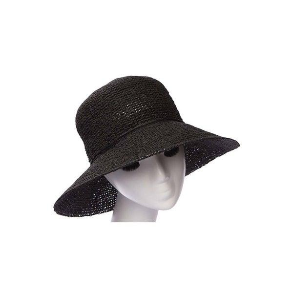 f80d103fc Womens Straw Wide Brim Sun Hat w/ String Band