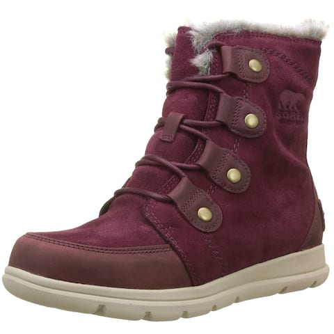 Sorel Womens Explorer Joan Suede Closed Toe Mid-Calf Cold Weather Boots
