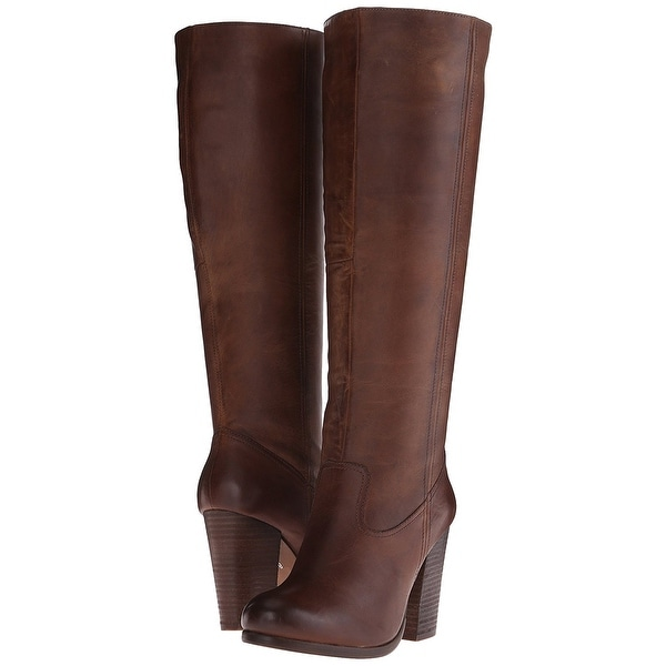 Steve Madden Womens Hudson Leather Almond Toe Knee High Fashion Boots