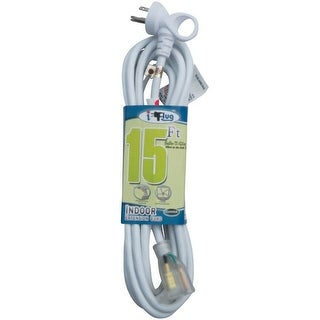 Conntek 24161-180 I-Plug Indoor Extension Cord, 15', White