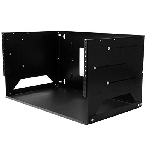"Startech Wallshelf4u Wall-Mount Server Rack, Solid Steel, Adjustable Depth 12"" To 18"" Components Other"