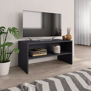 "Link to vidaXL TV Cabinet Gray 31.5""x15.7""x15.7"" Chipboard Similar Items in TV Consoles"