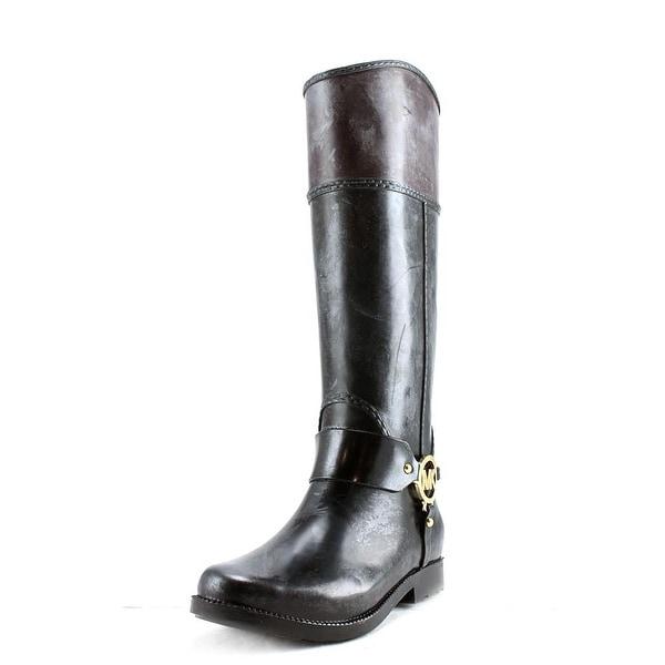 Michael Michael Kors Fulton Harness Tall Rainboot Women Blk/Coffee Snow Boots