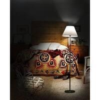 """Kanstar Tone Silver 56"""" Living Room Foor Light Lamp W/ Folded Shade"""