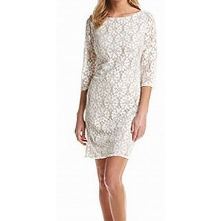 Jessica Howard NEW White Women's Size 16 Floral Lace Sheath Dress