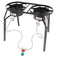Bayou Classic DB250 Double Burner Outdoor Gas Cooker - Black