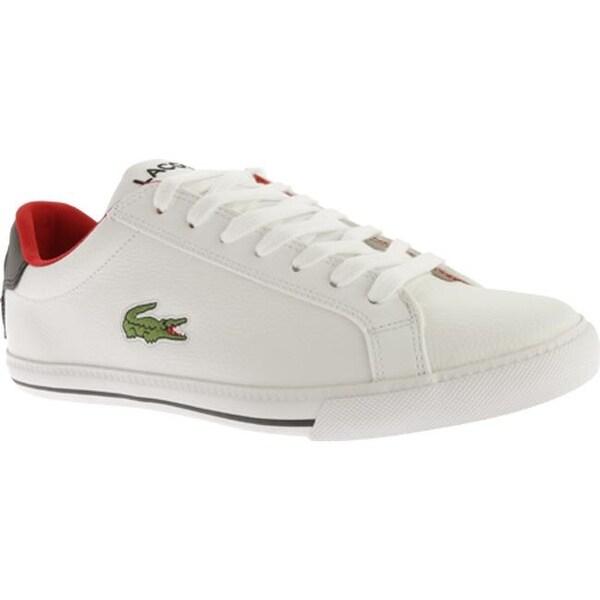 8f9f9956efd7f ... Men s Sneakers. Lacoste Men  x27 s Graduate Vulc TS White Black Leather