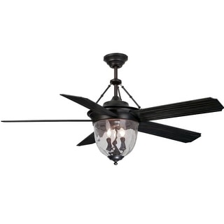 """Craftmade KM52ABZ5LKRC Knightsbridge 5 Blade 52"""" Ceiling Fan - Blades, Handheld Remote Control and Light Kit Included"""
