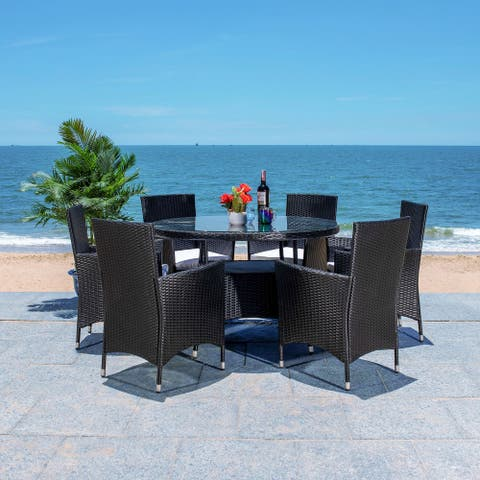 SAFAVIEH Outdoor Living Challe 7-Piece Patio Dining Set