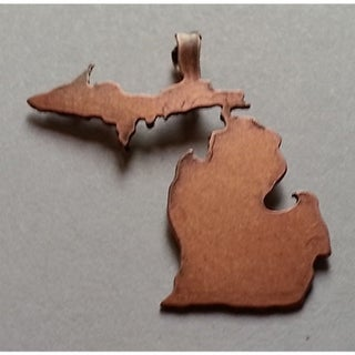 "Michigan Copper Necklace Pendants - Size - 1.25"" - Color - Copper"