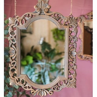 RusticReach French Palace Style Carving Frame Wall Mirror