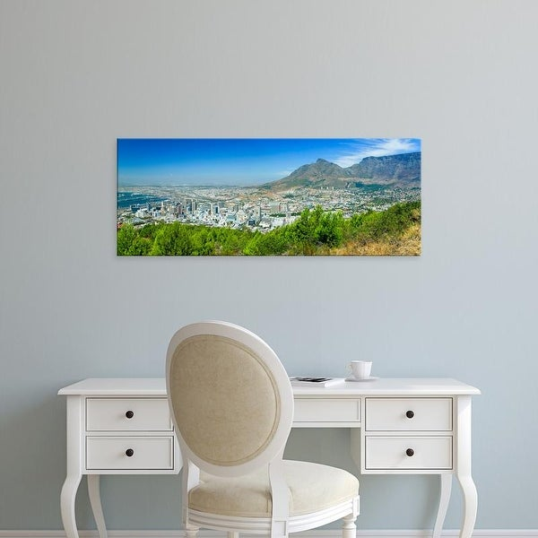 Easy Art Prints Panoramic Image 'Cape Town and Table Bay, harbor, Table Mountain, South Africa' Canvas Art
