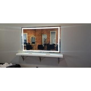 Innoci-USA Terra LED Wall Mount Lighted Vanity Mirror Featuring IR Sensor, Rocker Switch and Durable Aluminum Frame