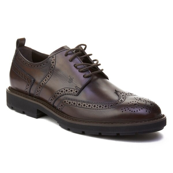 Tod's Men's Leather Brogue Oxford Shoes Brown