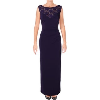 Connected Apparel Womens Evening Dress Lace Gathered