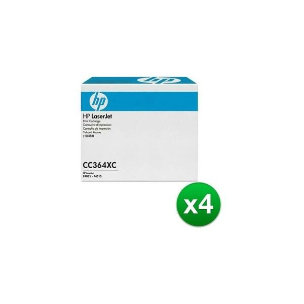 HP 64X High Yield Black Contract LaserJet Toner Cartridges (CC364XC)(4-Pack)